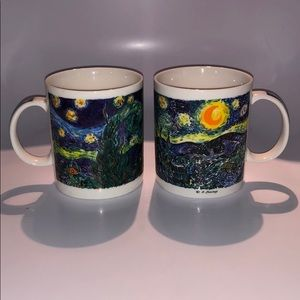 Lot of 2 Chaleur Van Gogh Starry Night Burrows Mug